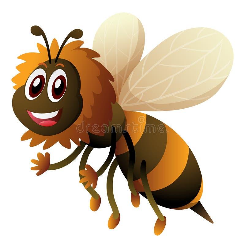 Пчела с счастливой стороной бесплатная иллюстрация