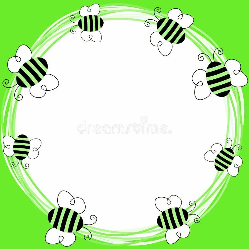 Пчелы летая карточка приглашения весны иллюстрация штока