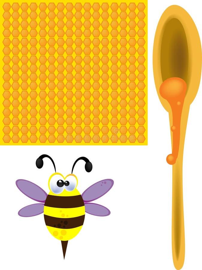 Пчелы и мед стоковые изображения