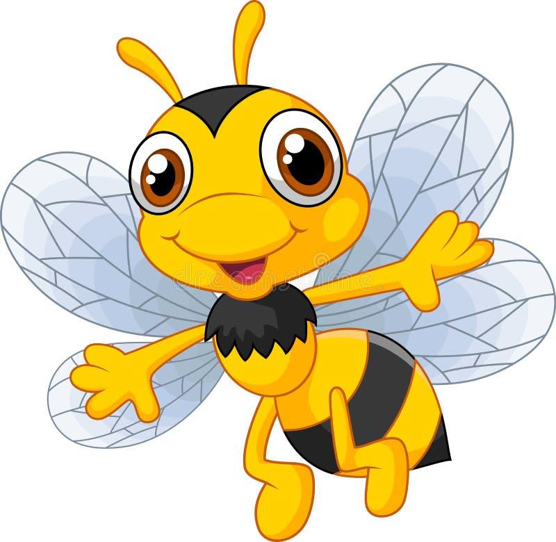 Пчелы шаржа милые иллюстрация штока