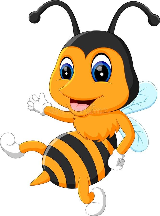 Пчелы шаржа прелестные бесплатная иллюстрация