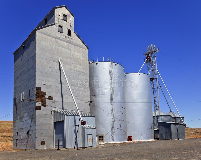 пшеница вашингтона хранения положения palouse зернохранилища стоковые изображения rf