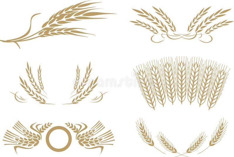 пшеница вектора иллюстрация штока