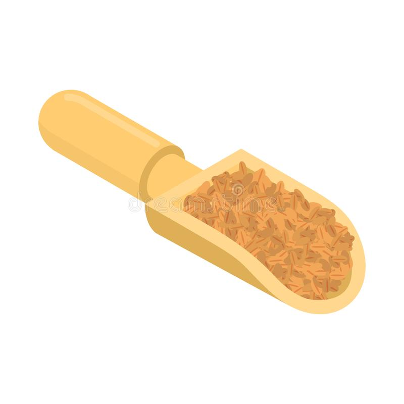 Пшеница в деревянном изолированном ветроуловителе Гроуты в деревянном лопаткоулавливателе Зерно дальше иллюстрация штока