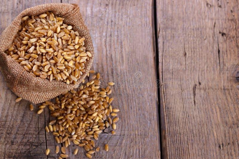Пшеница в мешочке из ткани стоковые изображения rf
