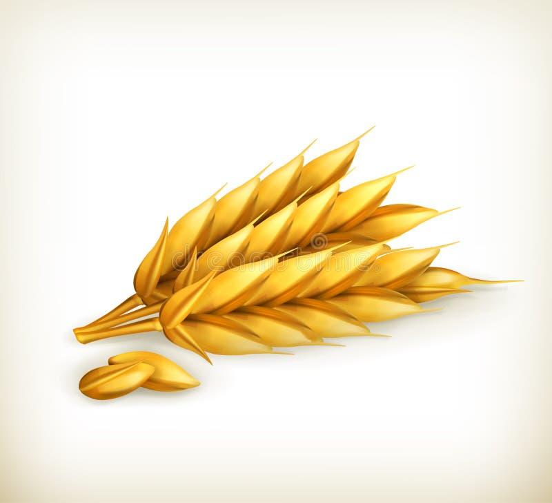 Пшеница, икона иллюстрация штока