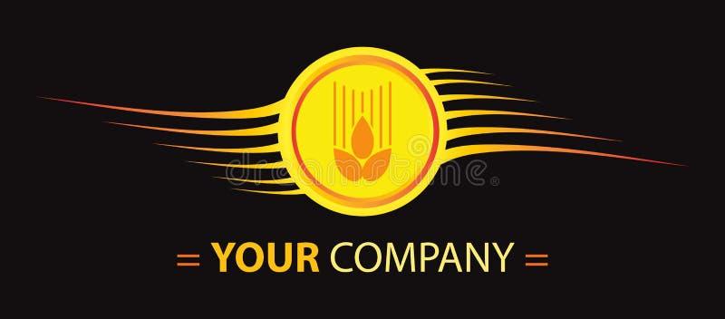 пшеница логоса конструкции иллюстрация вектора