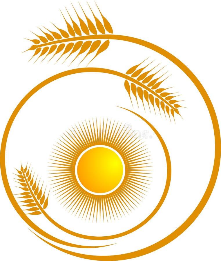 пшеница логоса иллюстрация штока