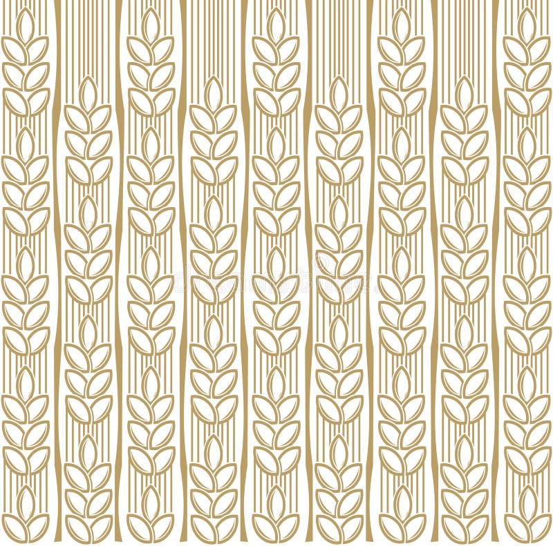 пшеница предпосылки иллюстрация вектора