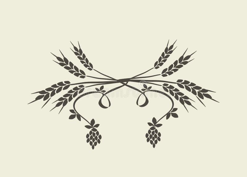 пшеница хмеля бесплатная иллюстрация
