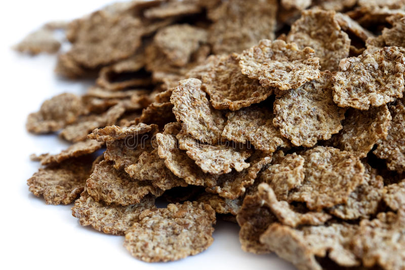 пшеница хлопий для завтрака отрубей стоковое фото rf