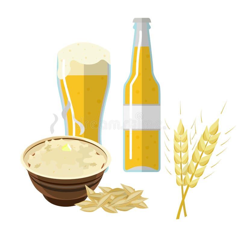 Пшеница, ячмень, бесплатная иллюстрация