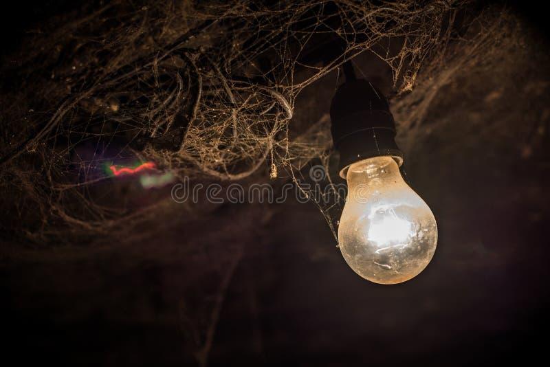 Пылевоздушная электрическая лампочка стоковое фото rf