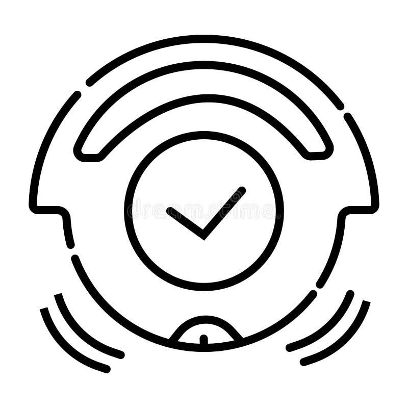 Пылесос вектора робототехнический, дистанционное управление иллюстрация штока