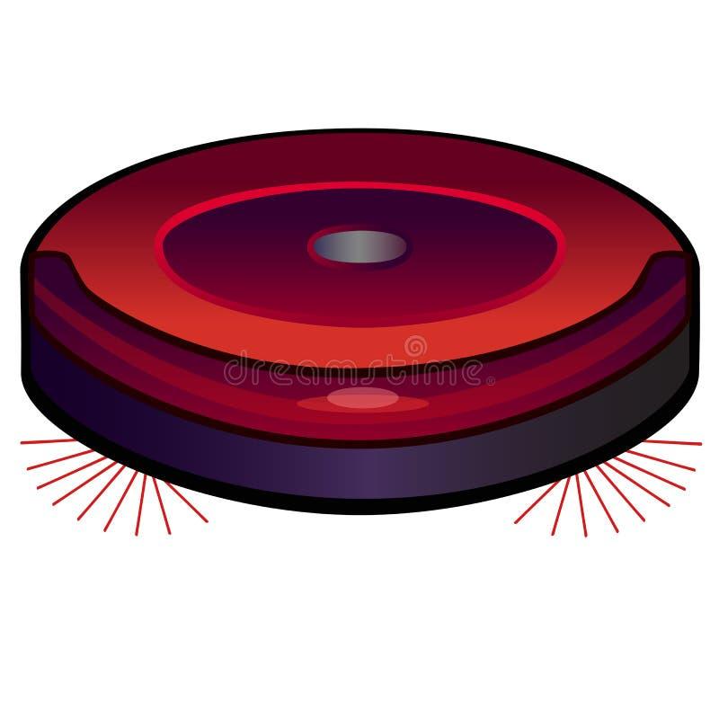Пылесос робота hoover Изображение вакуума линейное с градиентом цвета Конец-вверх иллюстрация вектора