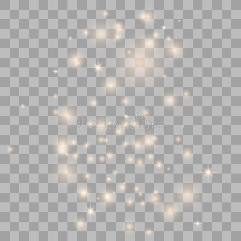 Пыль звезды золота блестящая стоковые изображения rf