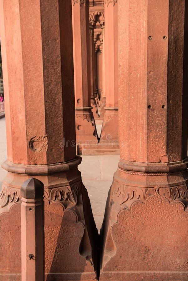 Пышная архитектура красного форта стоковое изображение