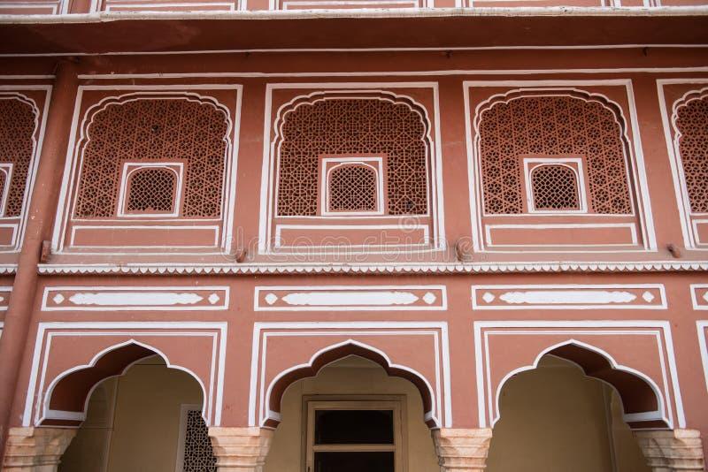 Пышное художественное произведение Chandra Mahal стоковое изображение