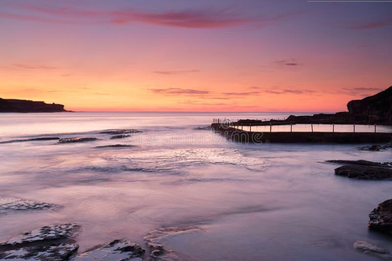Пышный восход солнца на Malabar Австралии стоковые изображения rf