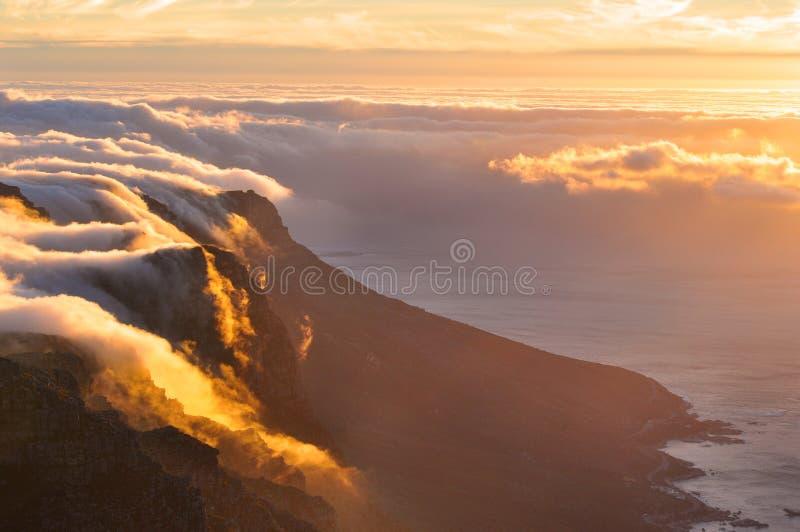 Пышный заход солнца стоковые изображения rf
