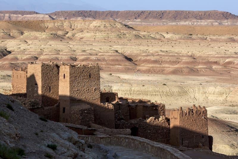Пышный укрепленный город Ait Benhaddou в Марокко стоковое фото