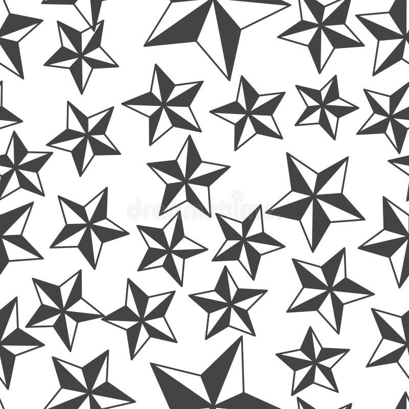 Пятиконечная звезда изображения вектора Картина звезды безшовная на белой предпосылке бесплатная иллюстрация