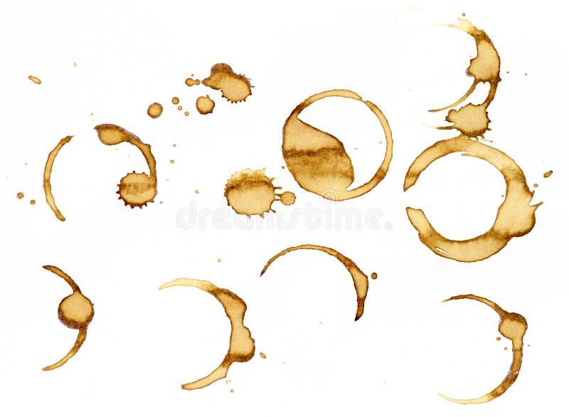 пятна кофе стоковое изображение
