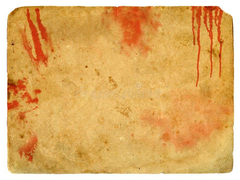 пятна крови старые бумажные иллюстрация вектора