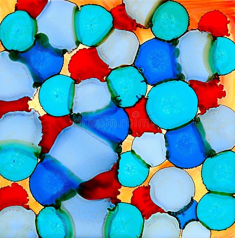 Пятна покрашенные конспектом голубые cyan красные иллюстрация вектора