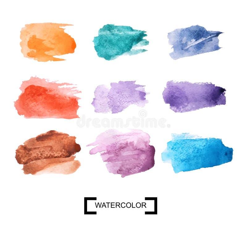 Пятна цвета акварели пестротканая акварель brushstrokes r бесплатная иллюстрация