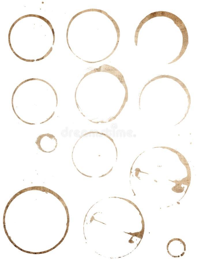 пятна чашки установленные стоковое фото rf