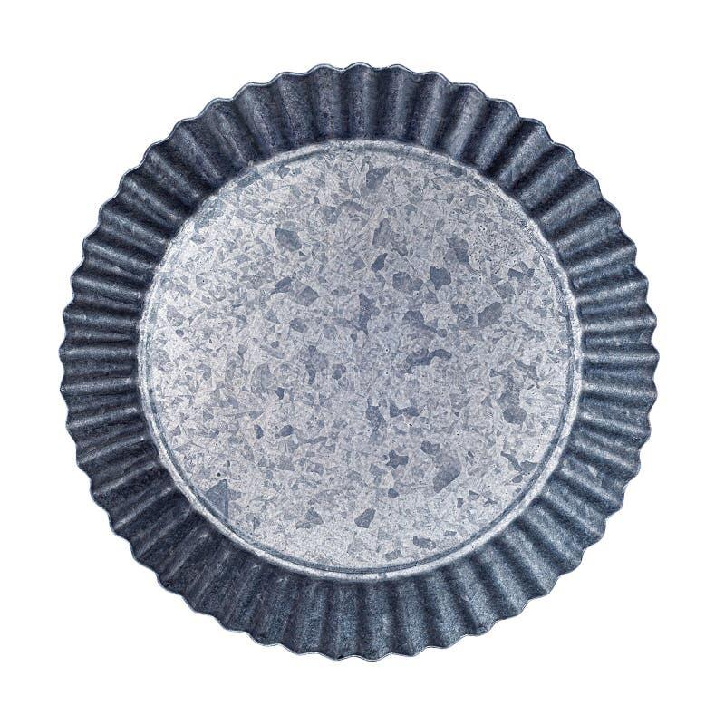 Пятнистая пустая алюминиевая пластина с покрытием из волнистых краев стоковые изображения rf