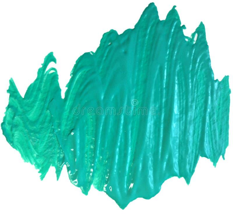 Пятно акрилового моря бирюзы tesutry с ходами щетки иллюстрация растра для логотипа и знамени стоковое фото rf