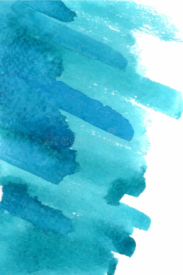Пятно изолированное открытым морем на белой предпосылке иллюстрация вектора