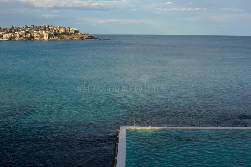 Плавательный бассеин в море стоковое изображение rf