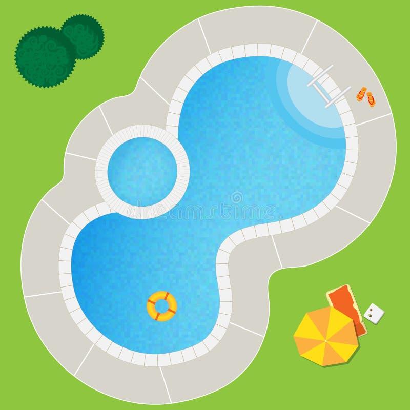 Плавательный бассеин иллюстрация штока