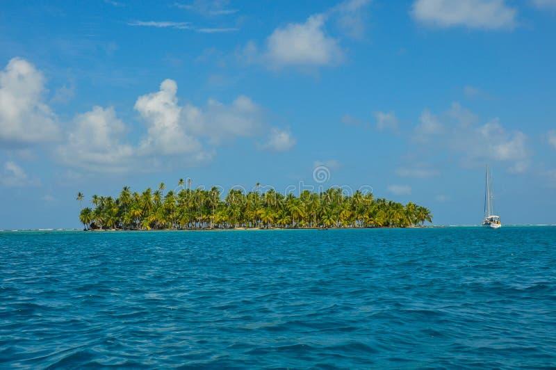 Плавать острова Сан Blas, Панама стоковая фотография