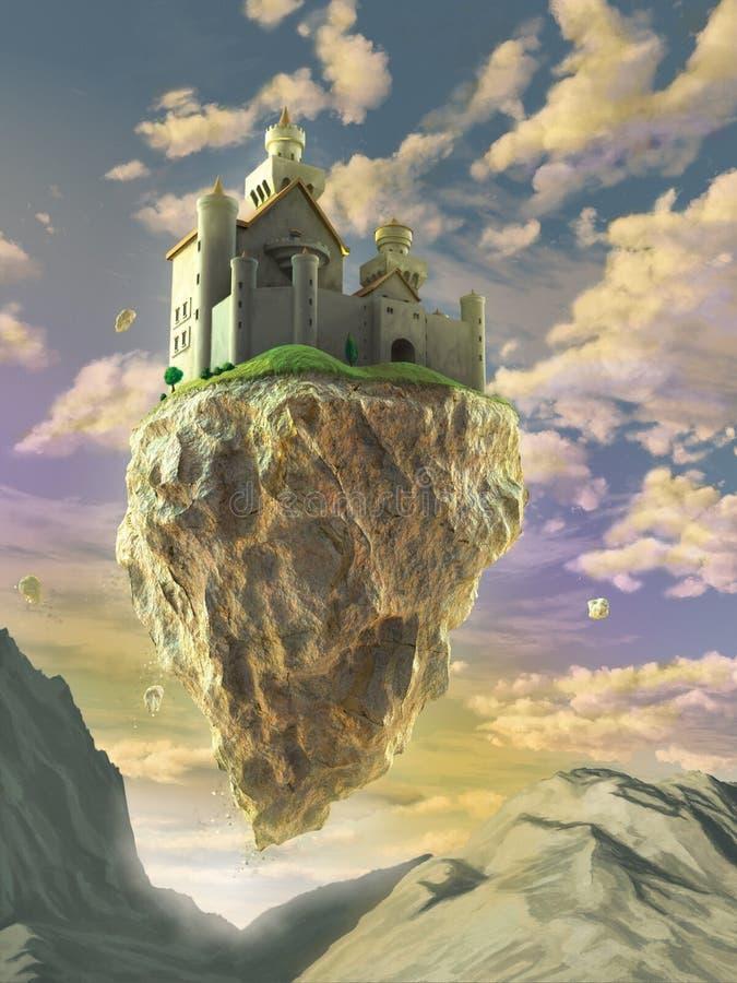 Плавая замок иллюстрация штока