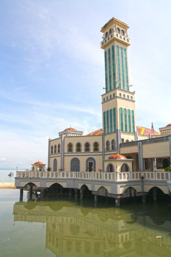 Плавая мечеть Pulau Pinang стоковые изображения rf