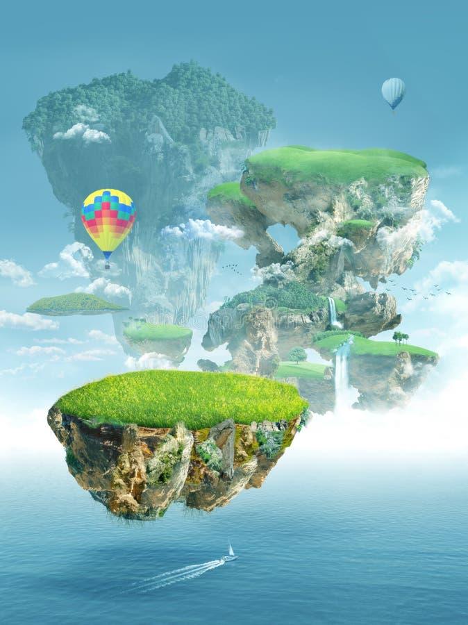 плавая острова бесплатная иллюстрация