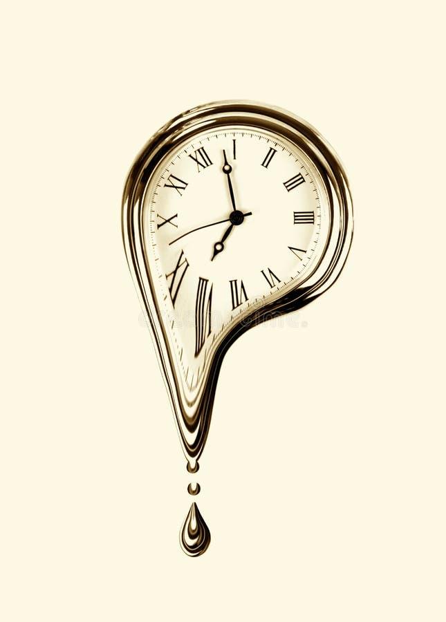 Плавить времени Сюрреалистический стиль Изображение влияния Sepia стоковое фото