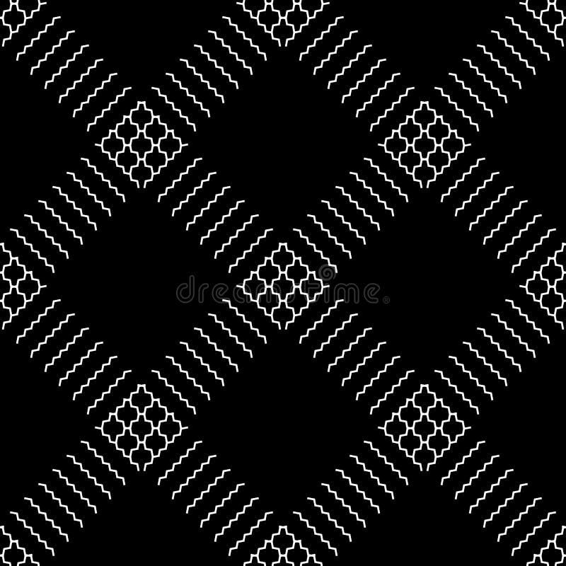 Download Плавно Repeatable геометрическая картина - абстрактный Monochrome ба Иллюстрация вектора - иллюстрации насчитывающей конструкция, repeatable: 81802555