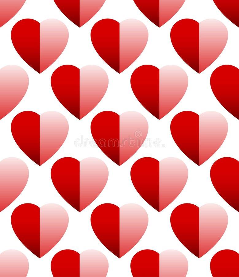 Download Плавно Repeatable картина - предпосылка с затеняемым сердцем Иллюстрация вектора - иллюстрации насчитывающей крышка, счастье: 81802006