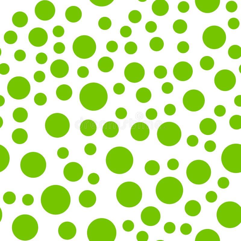 Плавно repeatable картина с случайными зелеными кругами иллюстрация вектора