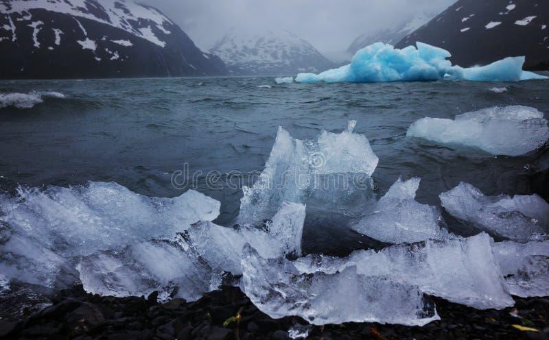 Плавя ледник в Аляске стоковые фотографии rf