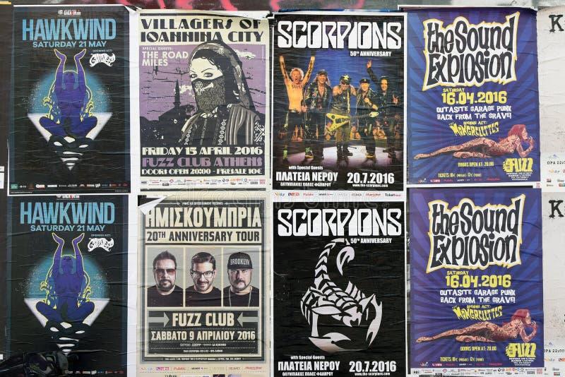 Плакаты концерта живой музыки стоковое изображение