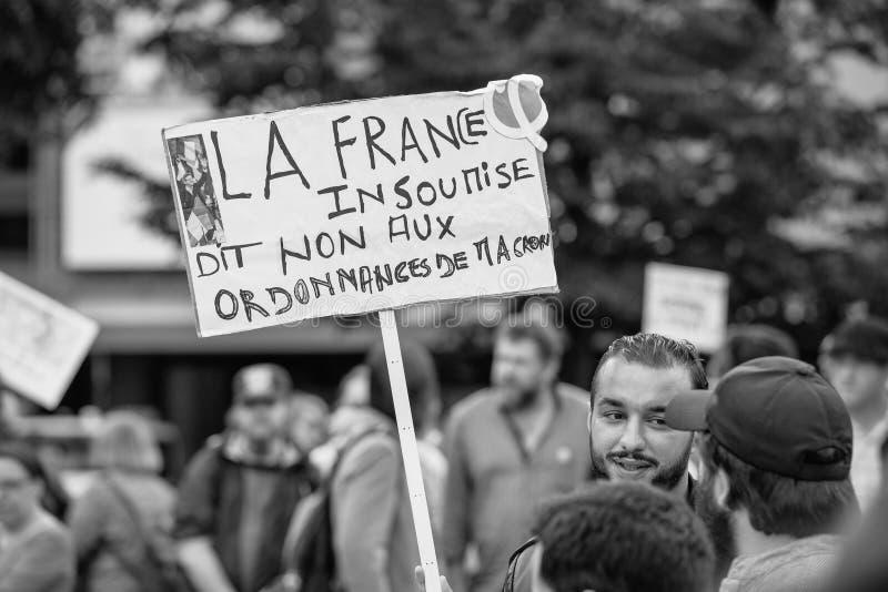 Плакаты на протесте стоковые изображения
