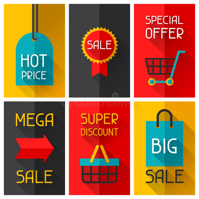 Плакаты рекламы продажи и покупок в квартире иллюстрация вектора