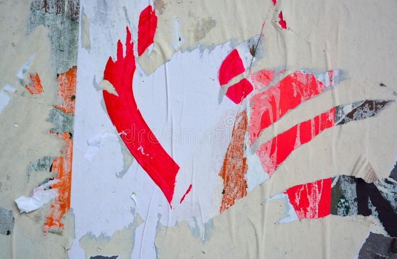 Плакаты сорванные конспектом стоковые фотографии rf