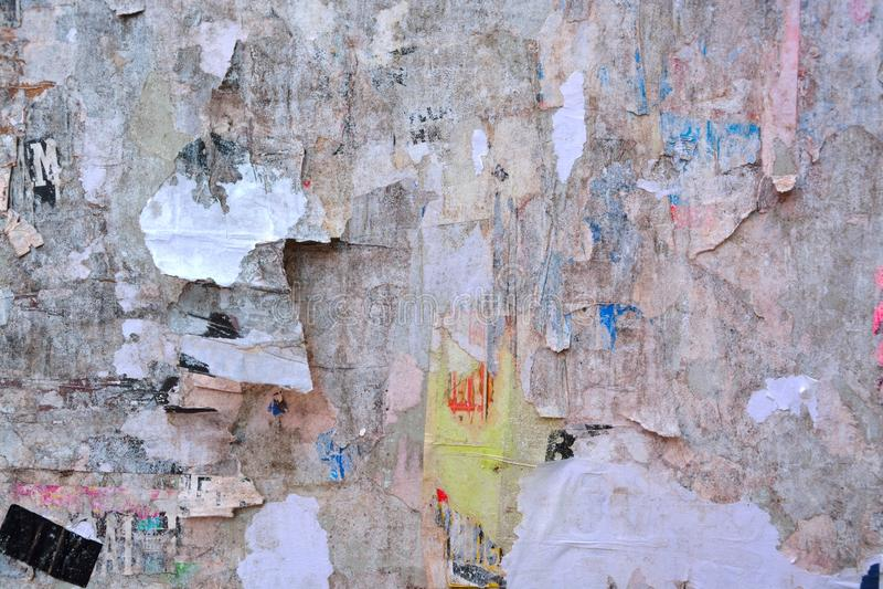 Плакаты сорванные конспектом стоковые изображения rf